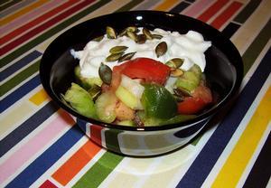 Letní salát se semínky