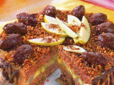 Jablkový dort s ořechy