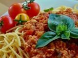 Sójové boloňské špagety recept