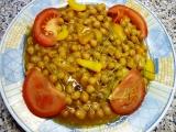 Cizrna na zázvoru, paprice a rajském recept