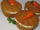 Mrkvové muffiny se zázvorovým krémem recept