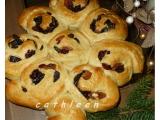 Vánoční stromečky z těsta na vánočku recept