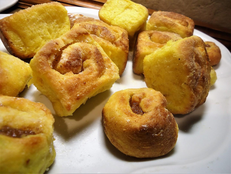 Buchty z kynutého dýňového těsta recept