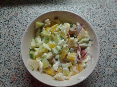 Večerní salát pro Barču