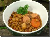 Zeleninová čočka s klobásou recept