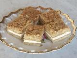 Karamelovo-ořechové řezy recept