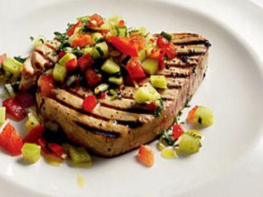 Recept Tuňákový steak na salátu