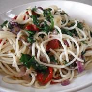 Špagety s listovým špenátem recept