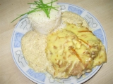 Kotlet s kari, smetanou a uzeným sýrem recept