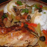 Kuřecí stehna se zeleninou recept