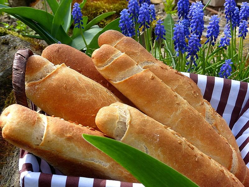 Pšenično-žitné rohlíky recept