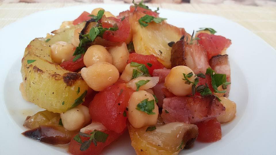Pečená zelenina s cizrnou recept