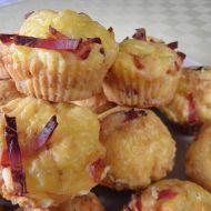 Sýrové muffiny se slaninou recept