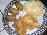 Niva v těstíčku s trilobity a salátem recept