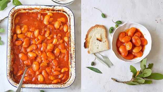 Pečené řecké fazole