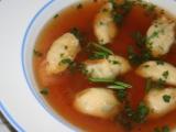 Pažitkovo  sýrové noky do polévky recept
