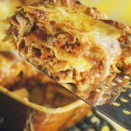 Houbové lasagne s kuřecím masem recept