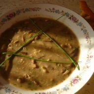 Houbová polévka s pohankou recept