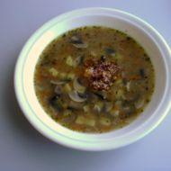 Žampionová polévka s cibulkou recept