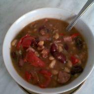 Mexické fazole s masem recept