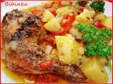 Staročeské kuře pečené v zelenině i s přílohou recept