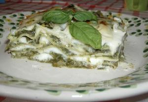 Lasagne s mangoldem v bešamelu