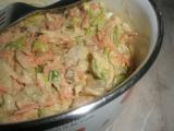 Pórkový salát s jablkem recept