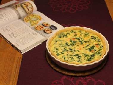 Lososovo špenátový quiche