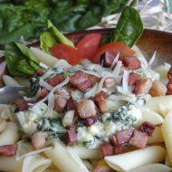 Těstoviny s listovým špenátem 1 recept