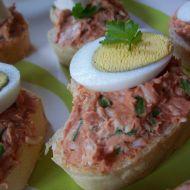 Vaječná pomazánka na červeno recept