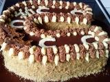 Čoko-vanilkový dort podkova recept