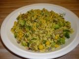 Rýže s brokolicí, žampiony a kukuřicí recept