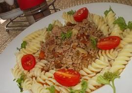 Chilli- pikantní masová směs s těstovinami a rajčátky recept ...