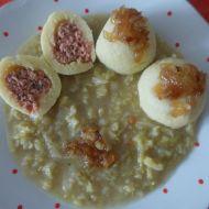 Plněné bramborové knedlíky s uzeninou a kapustou recept
