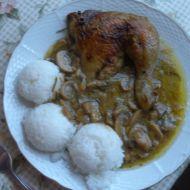 Kuře na rozmarýnu s bílými hříbky recept