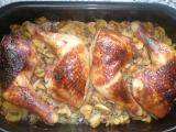 Medové kuřecí čtvrtky na peřince recept