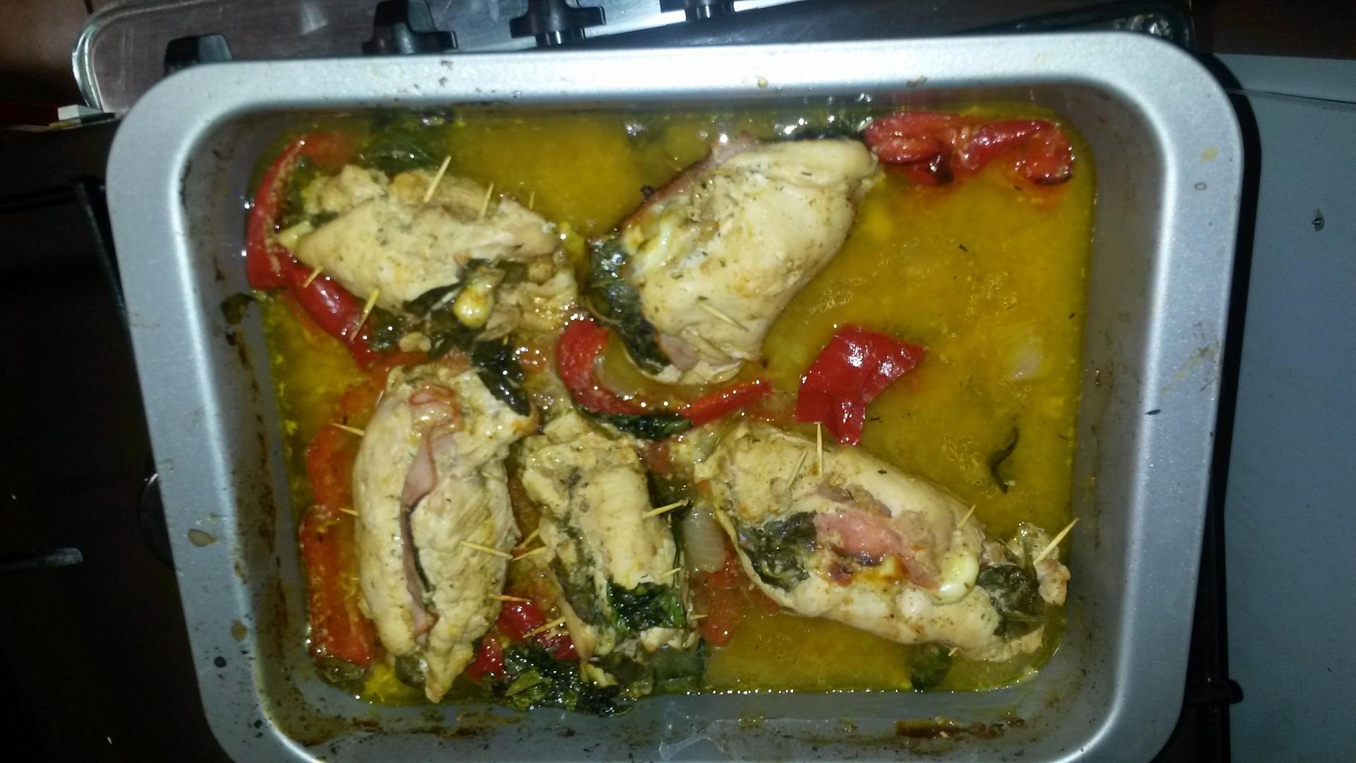 Plněné kuřecí závitky recept