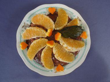 Mandarinkový dort za studena