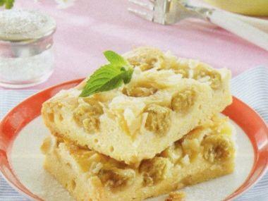 Marcipánový koláč s angreštem