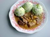 Vepřové maso s broskvemi a česnekem recept