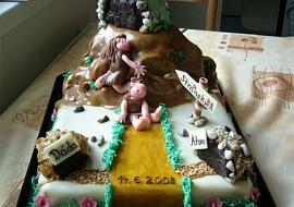 Svatební dortík pro příbuznou  brali se ve skalách :o)) recept ...