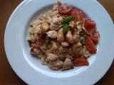 Kuskus se sušenými rajčaty a grilovaným kuřecím masem recept ...
