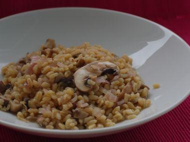 Italské rizoto s houbami a slaninou