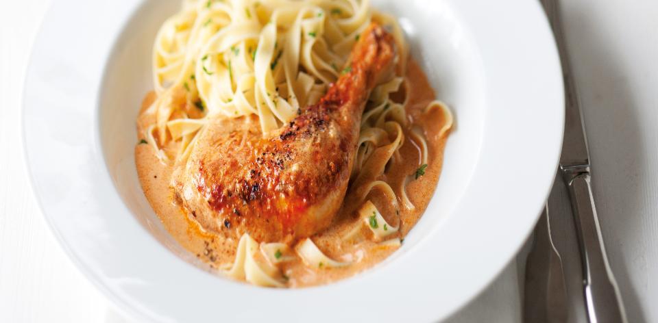 Kuře s těstovinami
