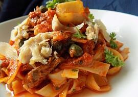 Těstoviny s uzenou makrelou recept