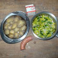 Zapečené brambory s pórkem recept