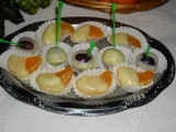 Měsíčky mandarinek máčené v bílé čokoládě recept