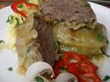 Mletý steak v zelném listu recept