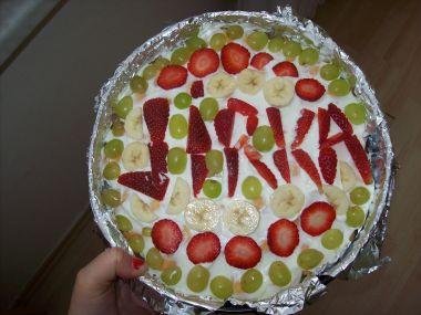 Rychlý nepečený dort k svátku