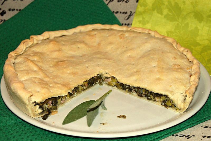 Slaný koláč plněný mangoldem recept